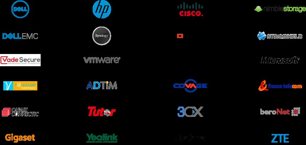 Gestion externalisée du Système d'information- Nos partenaires